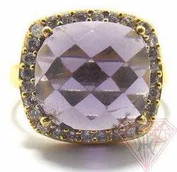 Amethyst Cubic Zirconia Ring