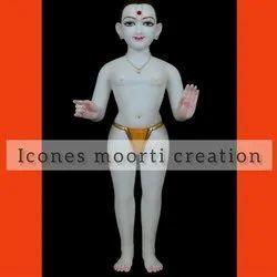 Standing Marble Swaminarayan Statue