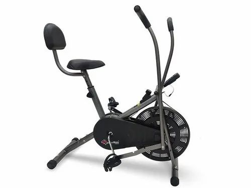 BU-201 Dual Action Air Bike/Exercise Bike With Back Support
