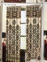 Jute Jacquard Panel Curtains