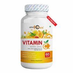 Healthoxide Vitamin C with Zinc - 60 Tablet