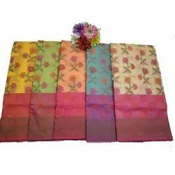 Zari Work Traditional Supernet Banarasi Silk Saree, 6.3 m (with blouse piece)