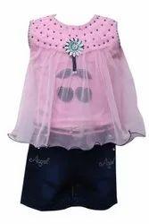 Girls Top and Denim Shorts Set
