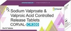 Sodium Valporate And Valporic Acid CR Tabletsn (Corval CR 300)