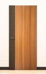 Brown Vrist Black Leather Veneer Door, For Home