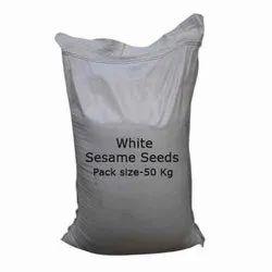 50 Kg White Sesame Seeds, Packaging Type: PP Bag