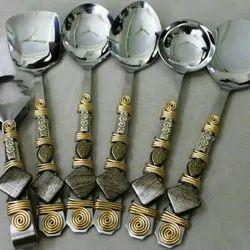 24 Pcs Meenakari Cutlery Set