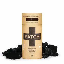Charcoal Bamboo Bandage Stripes - Tube of 25