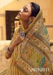 Glossy Narikriti Pure Pashmina Dress Material Catalog