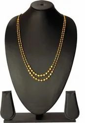 SAT Enterprise Necklace Chain Fancy Brass Micro Gold Plated 2, 3&5 Layer Long Chain, Size: 24inch, For Dailywear