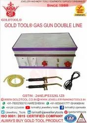 Gold Tool Gas Gun Double Line With Brass Nozzle (C.D. Type)