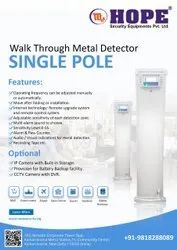 Door frame Metal Detector Single Pole