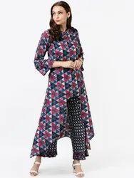 La Firangi Women Multicoloured Printed Kurta with Trousers