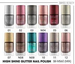 MIX Shimmer Nail Polish, 24 Pcs Box, Packaging Size: 24PCS
