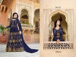 Heavy Net With Embroidery Work Gown