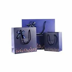Printed Blue Paper Gift Bags