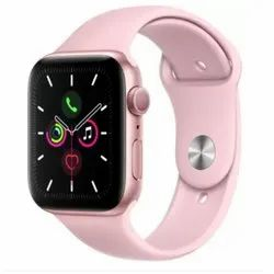 Mink and Black Silicone Apple Series 5 GPS Smart Watch