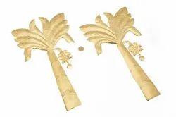 Brass Banana Tree (Set of Two), For Decoration