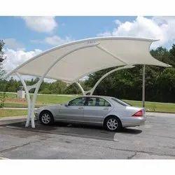 PVC Membrane Car Parking Shed