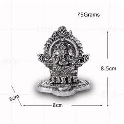Silver Plated Ganesh Small Dhoop Stick Stand