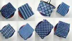 Hand Block Multi-Colour Ikkat Print Fabric
