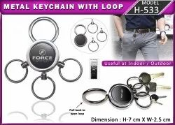 Metal Keychain With Loop