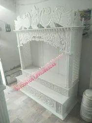 Polished White Handicraft Marble Temple, For Home