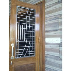 SILVER GRAY GOLD BLACK STAINLESS STEEL SAFETY DOOR GRILL, For Home Interior