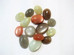 Multi Moonstone Gemstone Flatback Semi Precious Stone Cabochons
