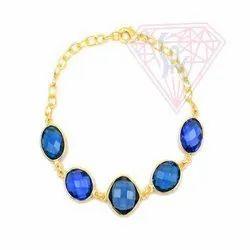 Iolite Quartz Gemstone Bracelet