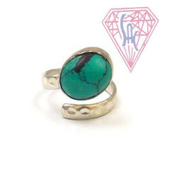 Malachite  Gemstone  Ring with Silver Plated