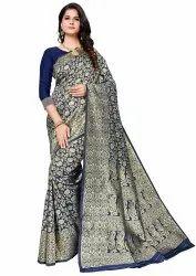 Venumart Formal Wear Fancy Collection Women's Jacquard Silk Saree With Blouse Piece, Saree Width: 5.5
