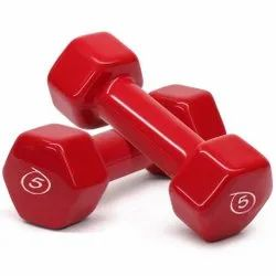 Fixed Weight Cast Iron Vinyl Dumbbell