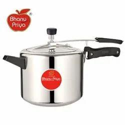 Bhanu Priya Silver 10 Litre Pressure Cooker