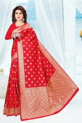 Helly Textile Zari Fancy Jacquard Saree, 6.2 m ( with blouse piece )