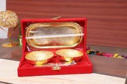 Home Decor Silver And Gold Plated Bowl Set Moq 20 Pcs, Size: 3.5 Inch