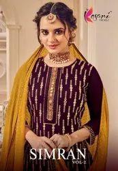 Kesari Trendz Simran Vol 2 Georgette With Embroidery Designer Plazzo Style Salwar Kameez Catalog