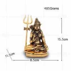 Gold Plated Shiv Ji Idol