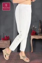 Riviera Lycra Ladies Cotton Palazzo Pants, Waist Size: 30.0