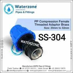 SS 304 Female Threaded Adaptor 20mm