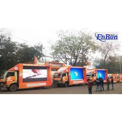 LED Advertisement Van Service, Hydraulic, Vehicle Model: Pickup Truck