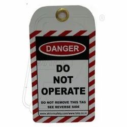 Tag- Danger- Do Not Operate ( Set Of 10 Pieces)