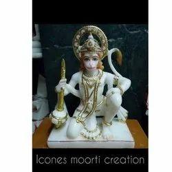 Worship Marble Hanuman Statue