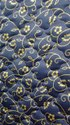 For Textile Blue Modern Butter Satin Cotton Fabric