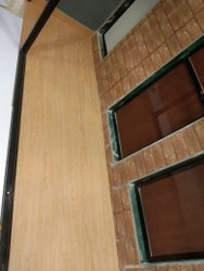 Rectangular Light Brown PVC Carpet