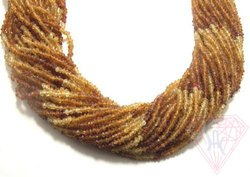 Hessonite Garnet Strands