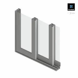 Modern Aluminium Original Domal Sliding Window System, For Residential and Commercial