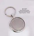 Round Revolving Metal Keychain