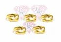 Gold Plated Antique Hug Design Adjustable Rings For Male And Female