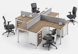 Brown Plywood CUBICALE OFFICE CLUSTER, Size: Custmised